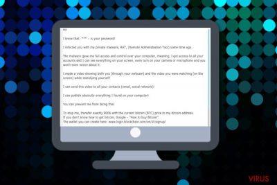 Ich habe dich mit meiner privaten Schadsoftware infiziert (E-Mail-Betrug)