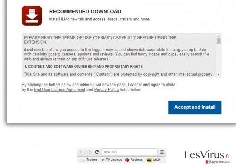 iLivid New Tab hijacker-Screenshot