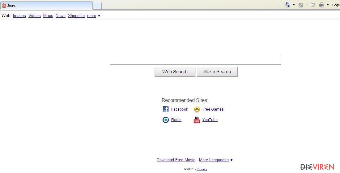 iMesh Toolbar-Screenshot
