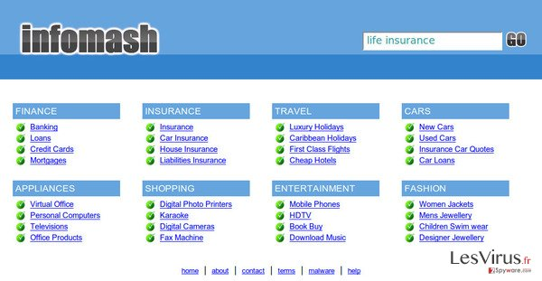 InfoMash redirect-Screenshot