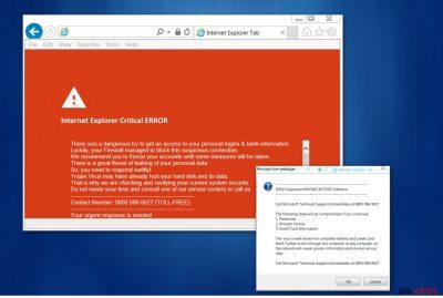 """Internet Explorer Critical ERROR""-Virus"