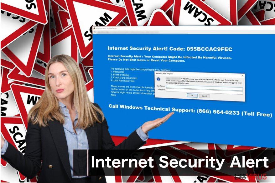 """Die betrügerische Nachricht """"Internet Security Alert"""""""