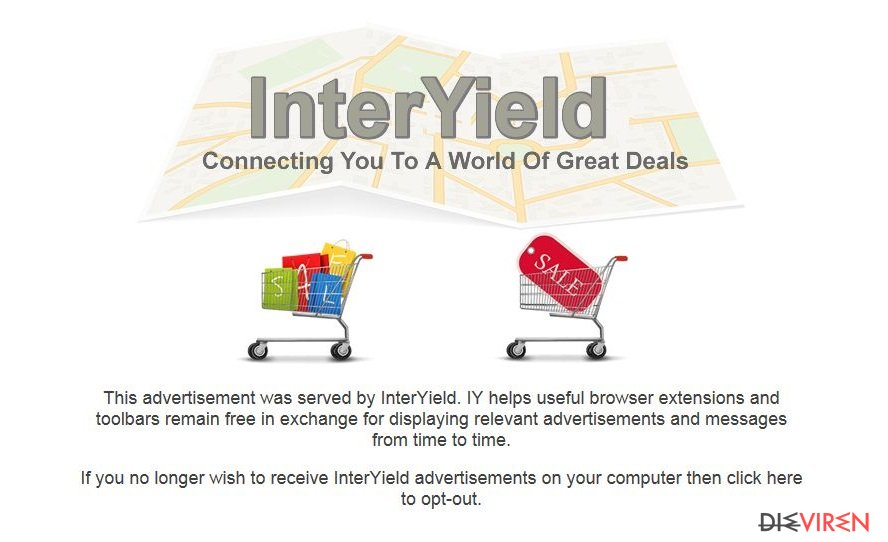 InterYield pop-up ads