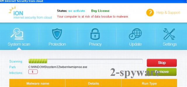 iON Internet Security-Screenshot