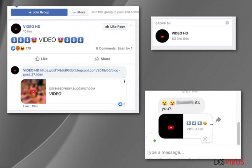 """Bist du das""-Facebook-Virus-Screenshot"