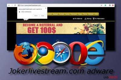 Adware-Programm Jokerlivestream.com