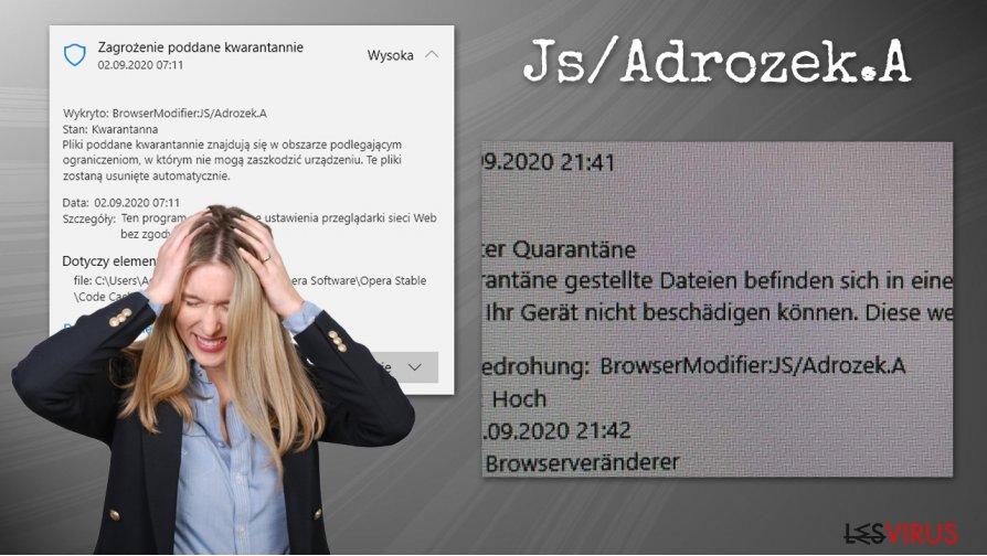 Der Virus Js/Adrozek.A