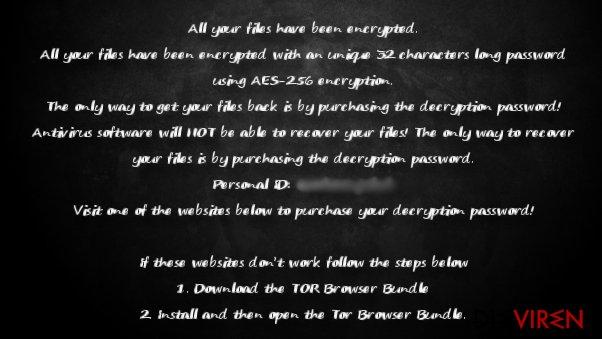 The ransom note of KillerLocker ransomware