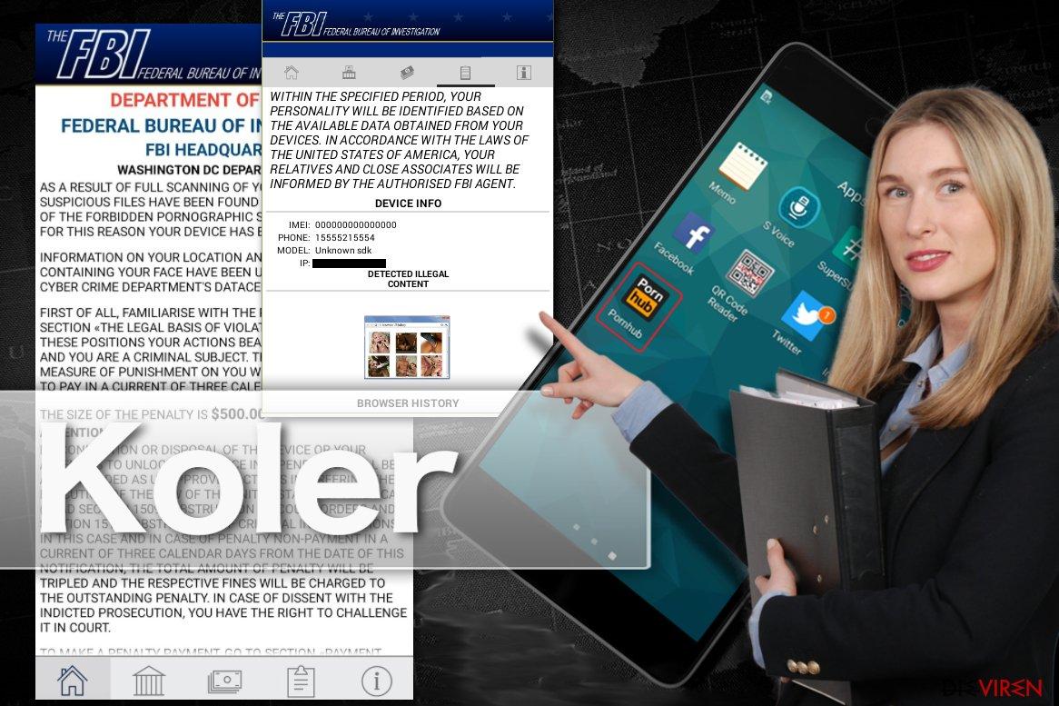 Abbildung Koler-Erpressersoftware