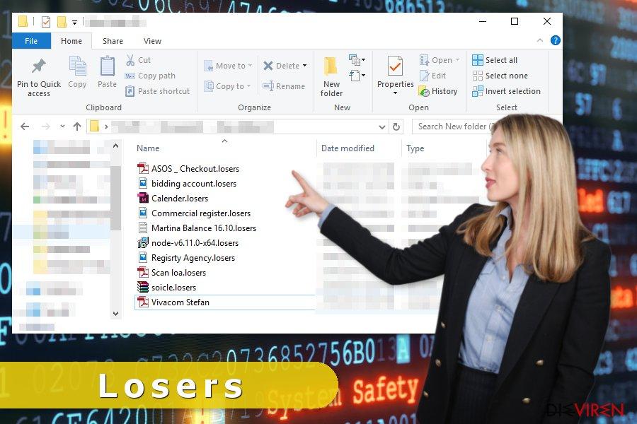 Virenattacke von Losers-Erpressersoftware