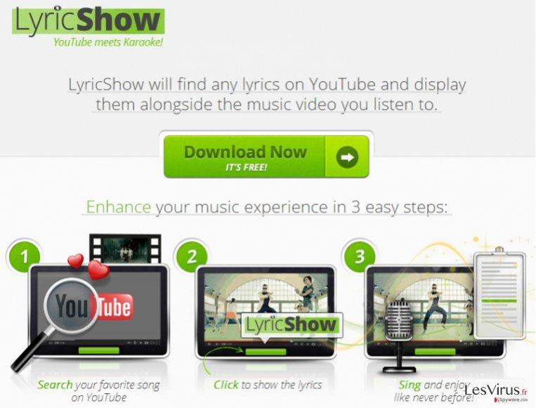 Ads by LyricShow Virus-Screenshot