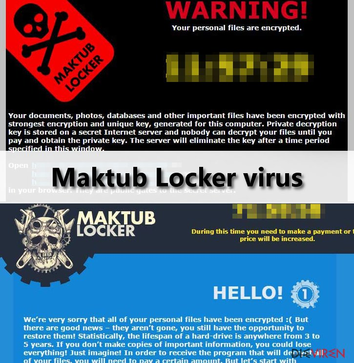 Maktub Locker virus ransom note