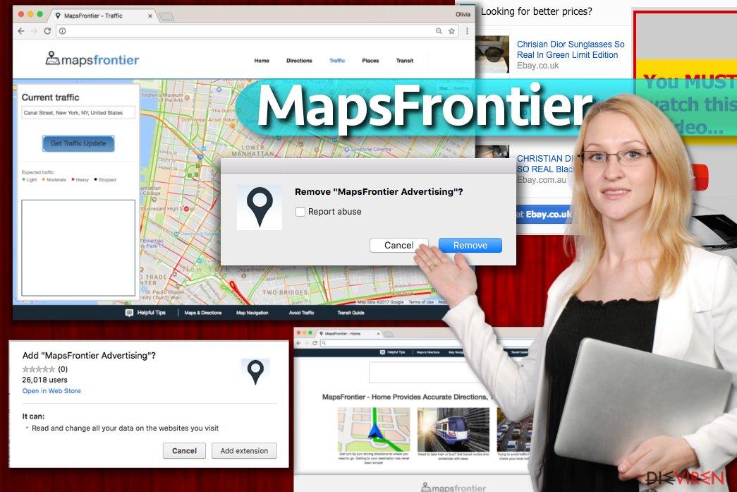 Maps Frontier-Anzeigen
