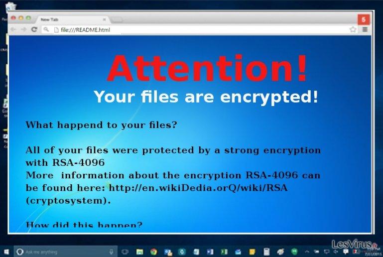 The ransom note of Microsoft Decryptor