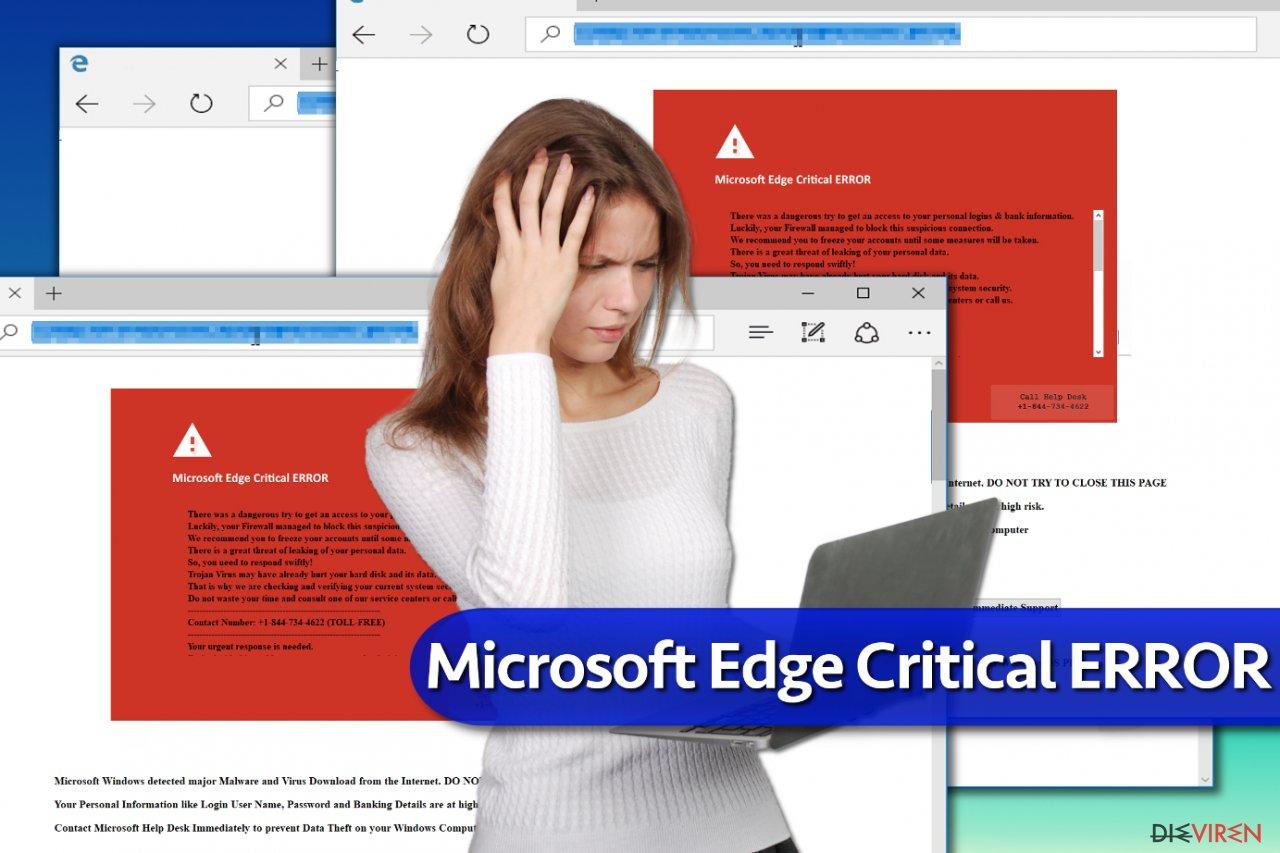 """Microsoft Edge Critical ERROR""-Betrugsmasche"