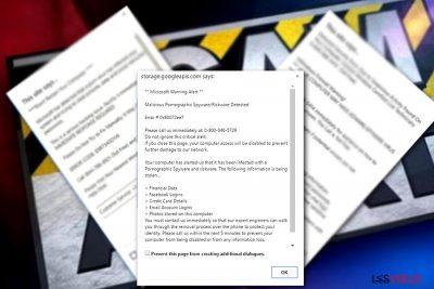 Beispiel der Microsoft-Warnung