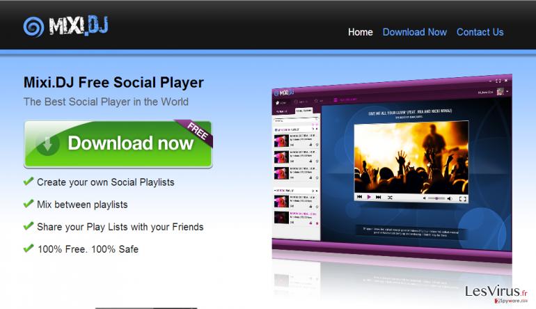 Mixi.dj virus-Screenshot