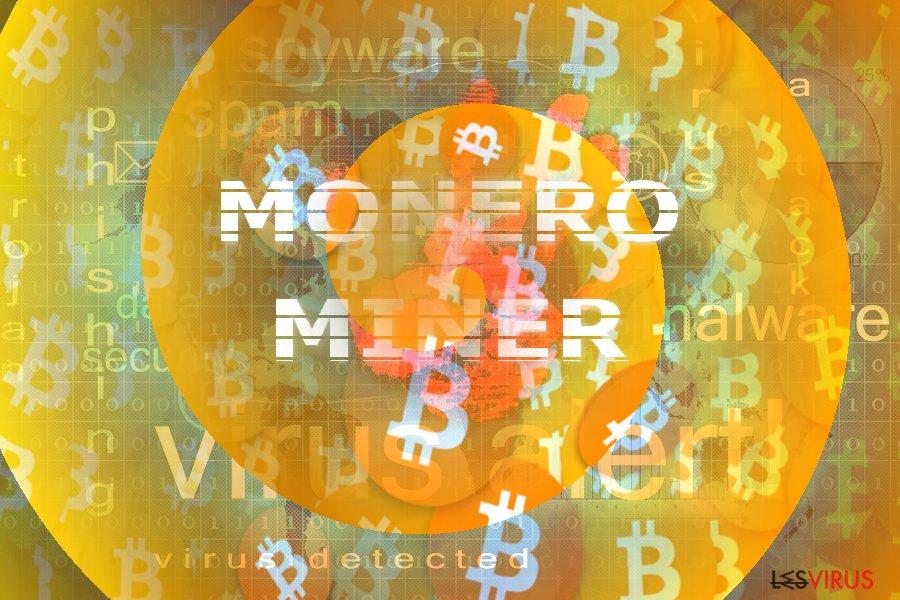 Illustration des Konzeptes von Monero Miner