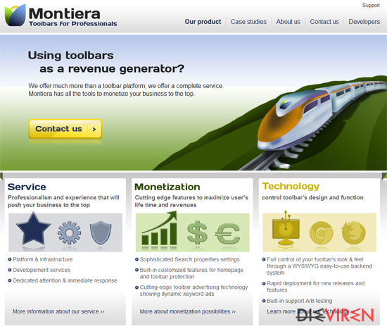 Montiera Toolbar-Screenshot