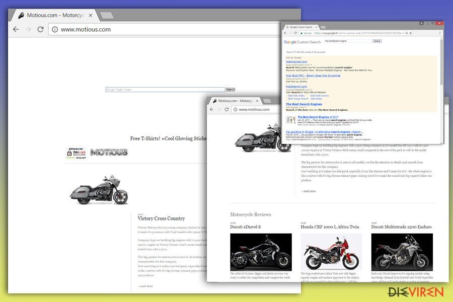 Abbildung Motious.com-Virus