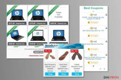 Beispiel MyCouponize-Anzeigen