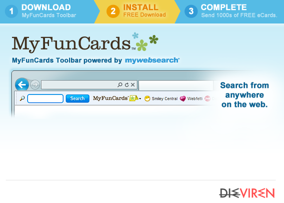 MyFunCards Toolbar-Screenshot