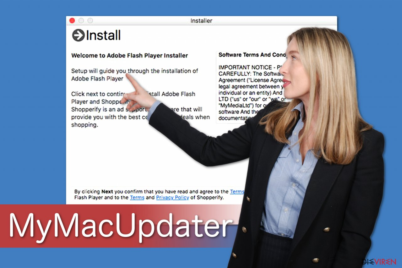 MyMacUpdater-Abbildung zeigt, wie es mit Freeware gebündelt ist