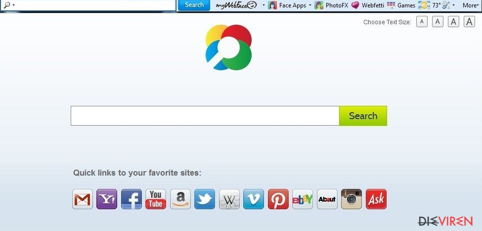 MyWebFace-Toolbar-Screenshot