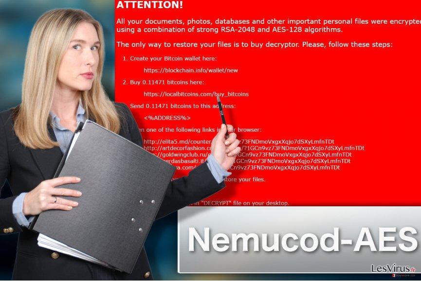 Abbildung Nemucod-AES-Erpressersoftware