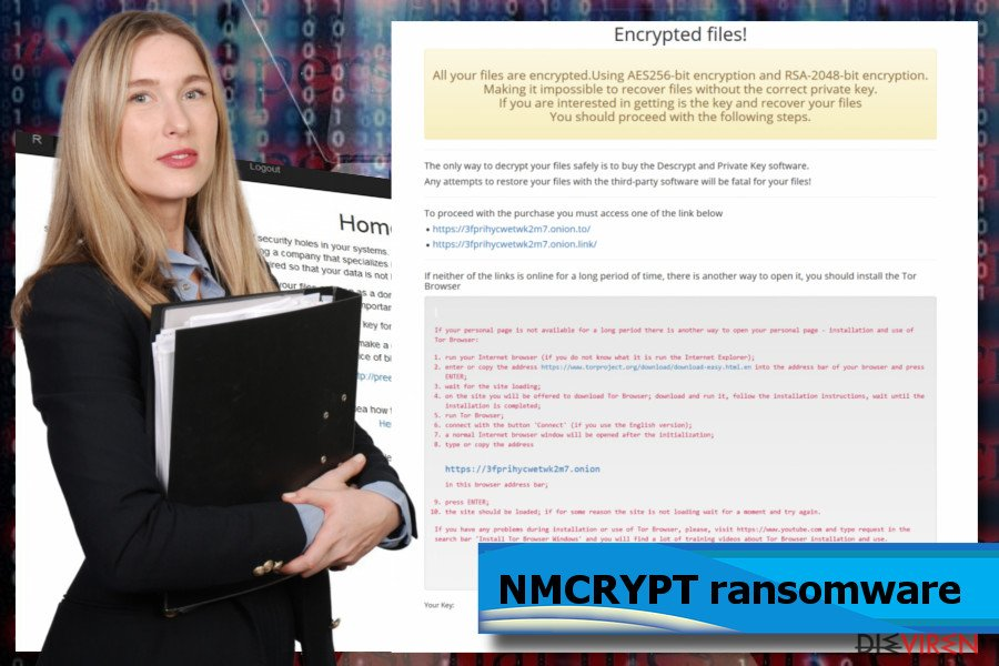 Screenshot NMCRYPT-Ransomware
