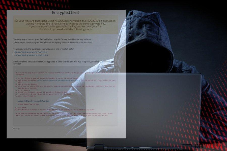 Abbildung NMCRYPT-Erpressersoftware