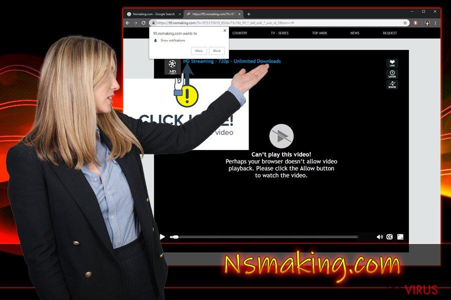 Nsmaking.com Push-Benachrichtigungsvirus