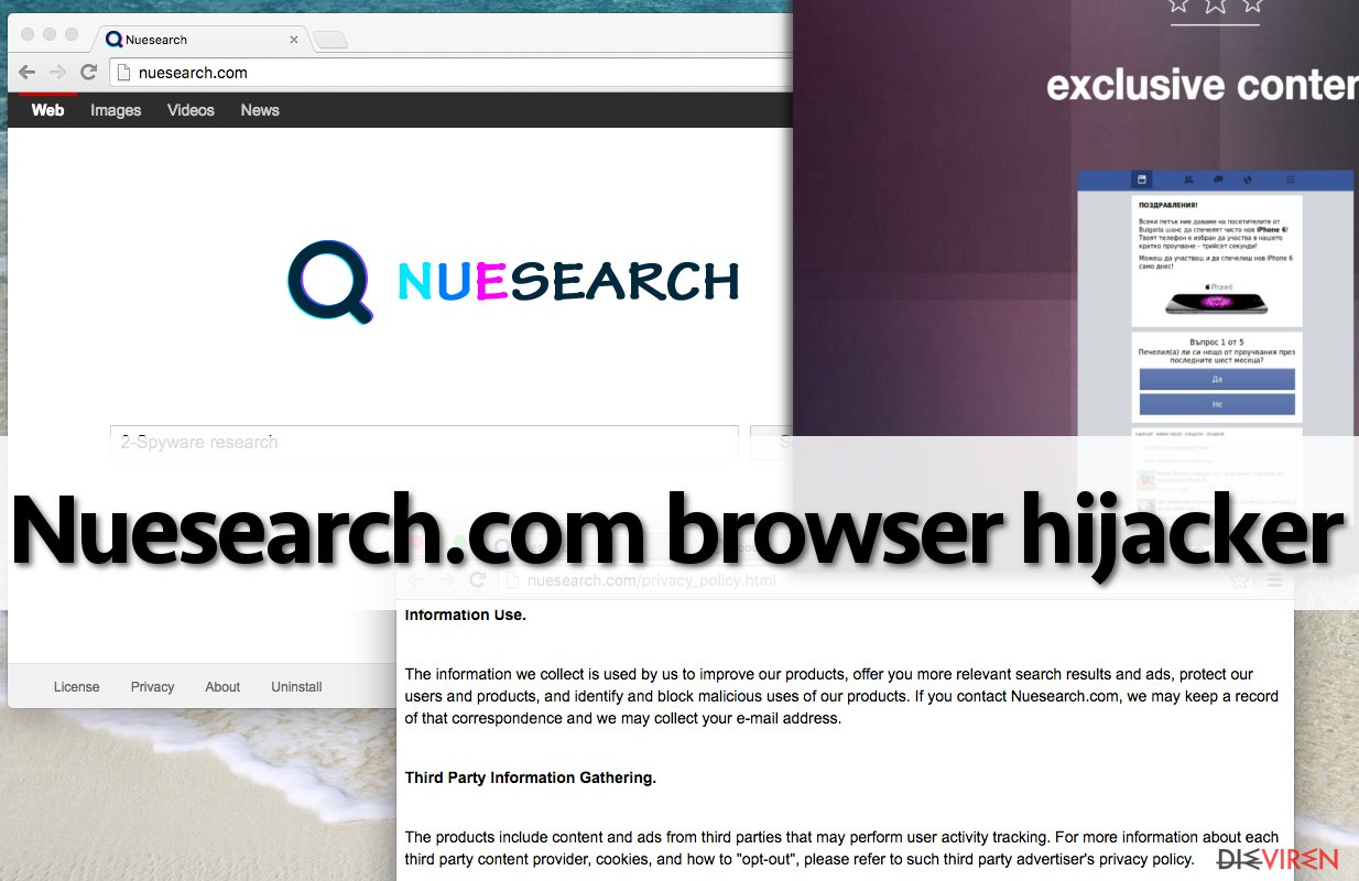 Nuesearch.com browser hijacker replaces browser's homepage