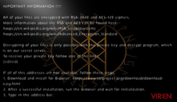 Odin virus easily encrypts files