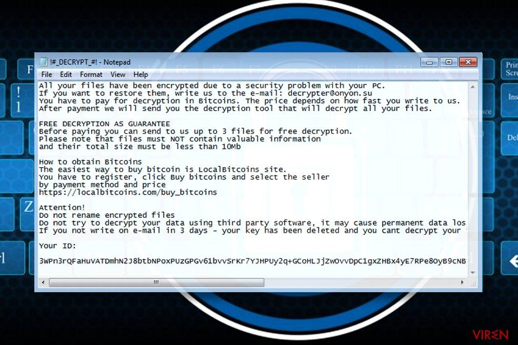 OnyonLock ransomware note