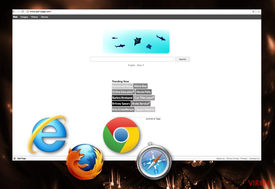 Opti-Page.com browser hijacker