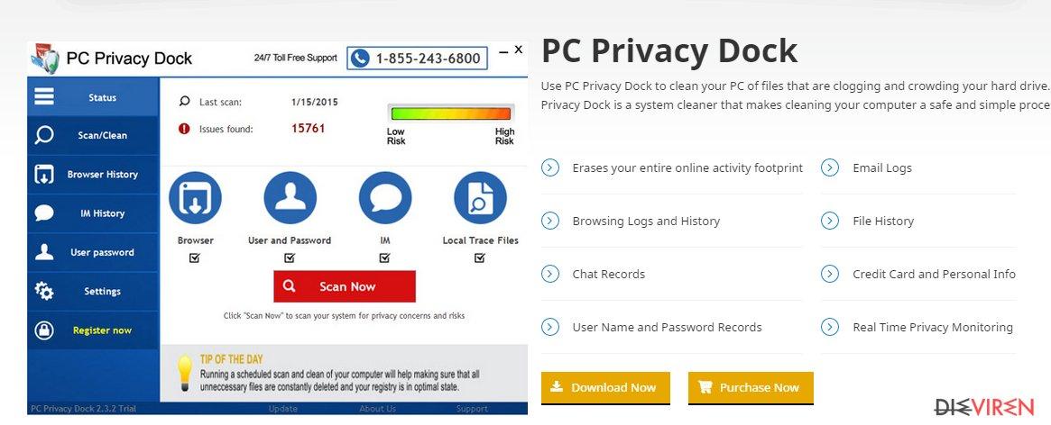 PC Privacy Dock-Screenshot