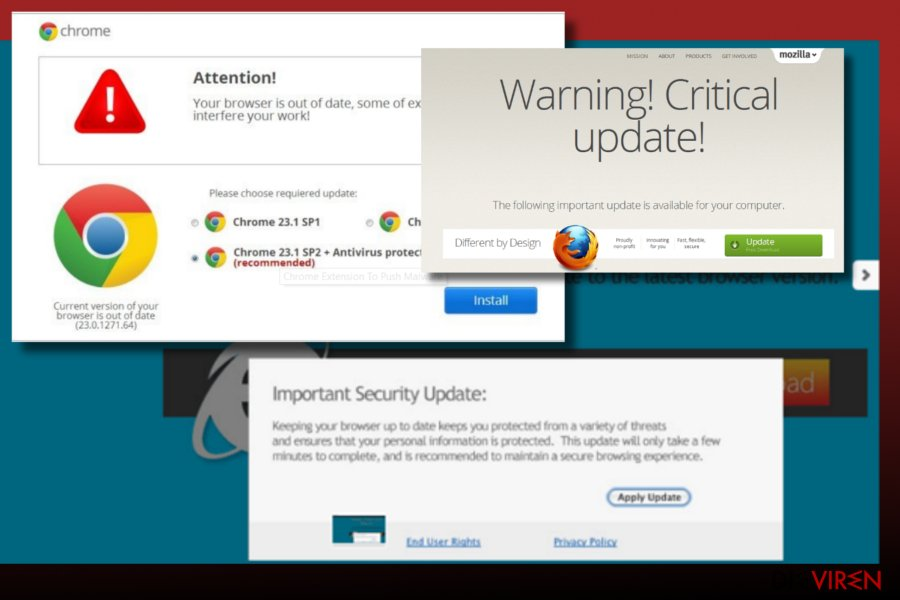 Phoenix Browser Updater virus illustration