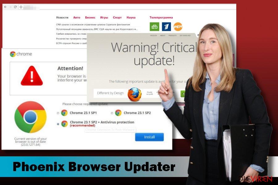 Abbildung der Schadsoftware Phoenix Browser Updater