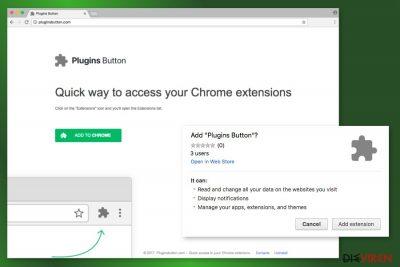 Abbildung Plugins Button