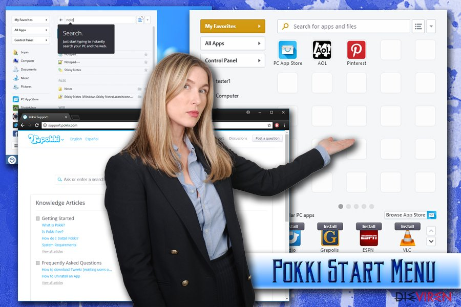 """Pokki Startmenü""-Virus"
