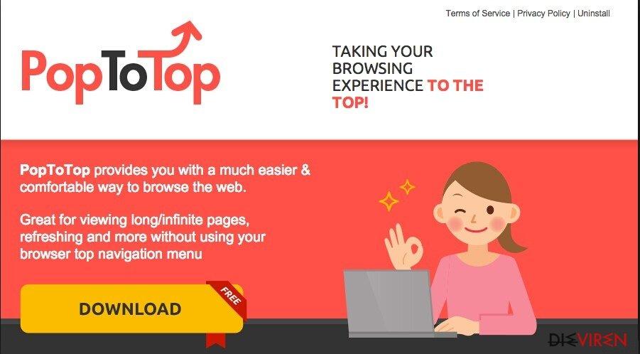 PopToTop-Anzeigen-Screenshot