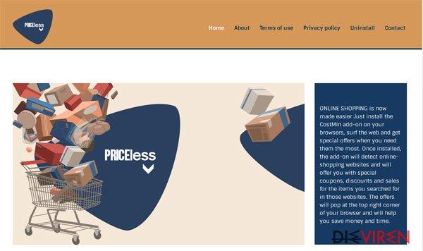 PriceLess-Virus-Screenshot