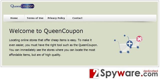QueenCoupon-Adware-Screenshot