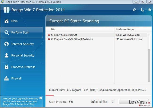 Rango Win 7 Antivirus 2014-Screenshot