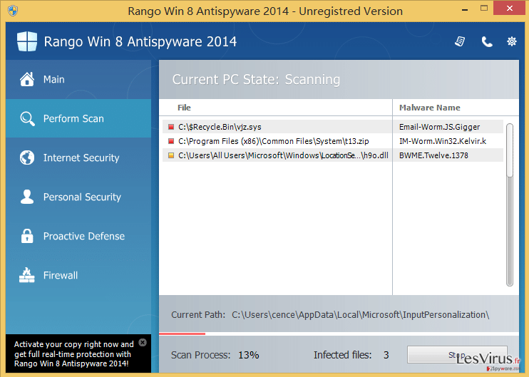 Rango Win 8 Antispyware 2014-Screenshot