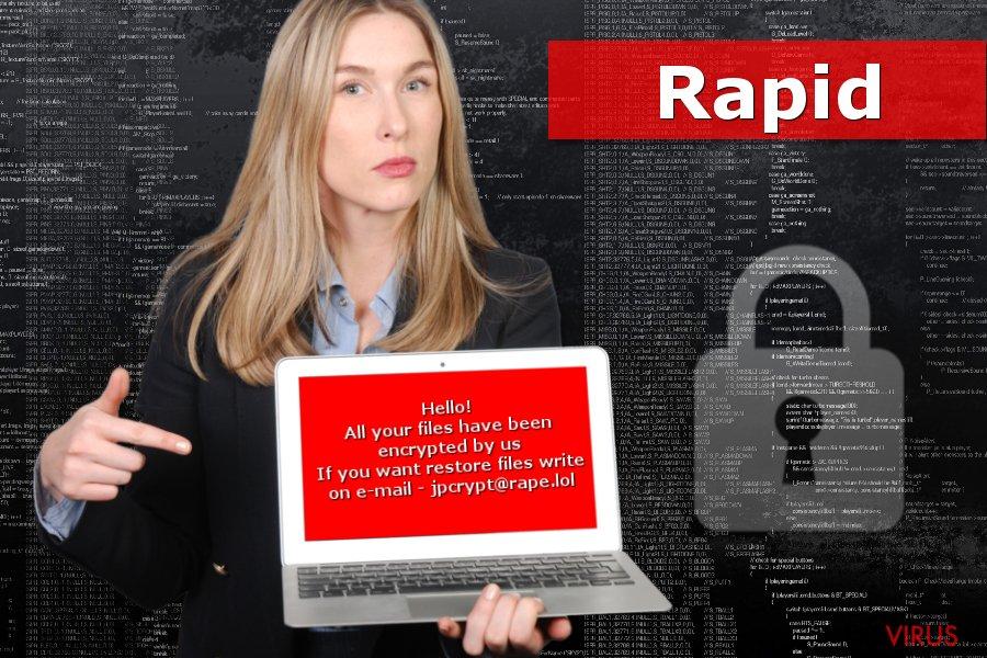 Bild von Rapid-Erpressersoftware