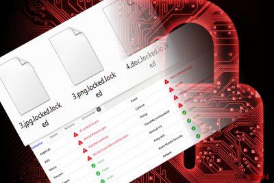 Das Bild illustriert die von dem Virus RedBoot verschlüsselten Dateien