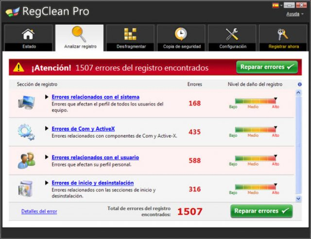 RegClean Pro-Screenshot