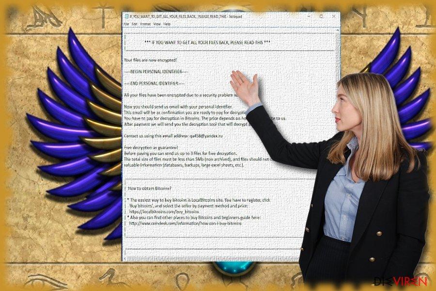 Das Bild zeigt die Textdatei der Scarab-Schadsoftware.